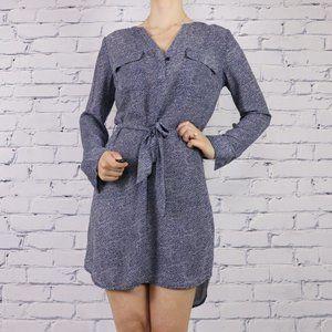 Dex blue long sleeve polka dot dress c1